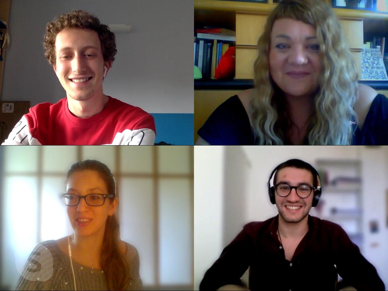 il team di AD Communications in videoconferenza